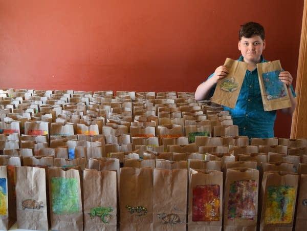 """Creativity Kits"" of art supplies for kids"