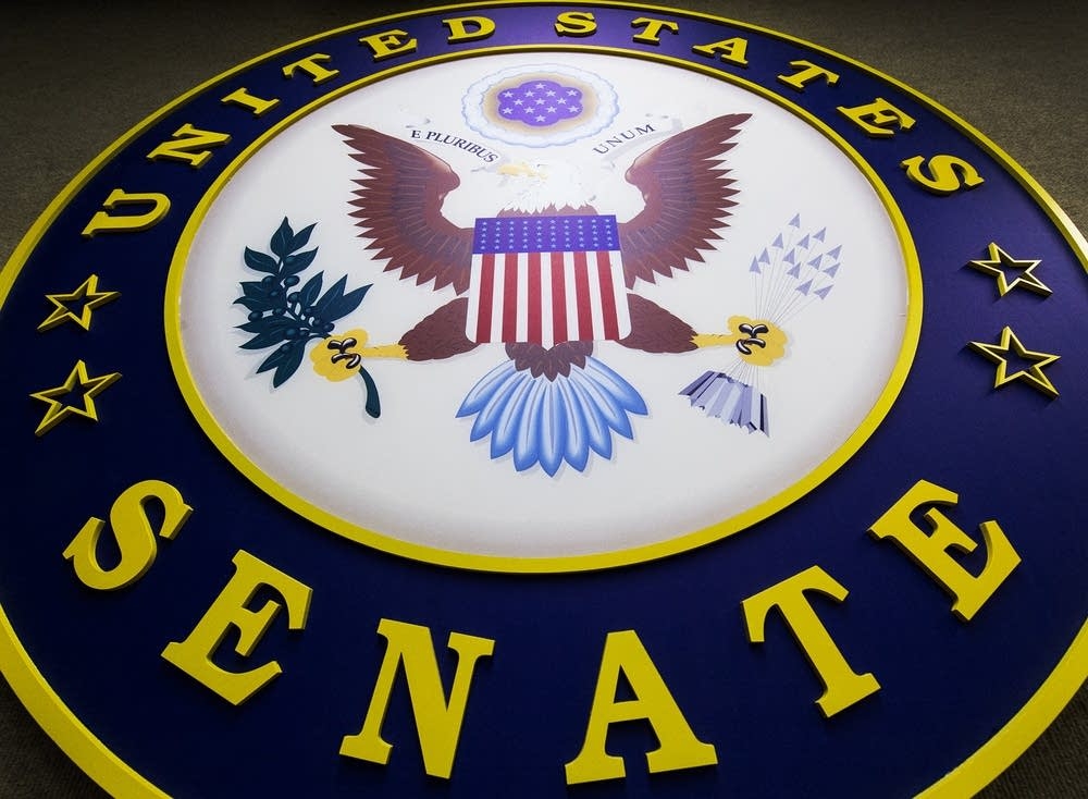 The logo for the US Senate