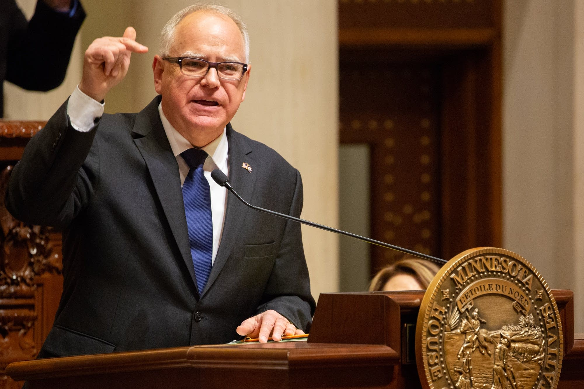 Gov. Tim Walz delivers his State of the State address.
