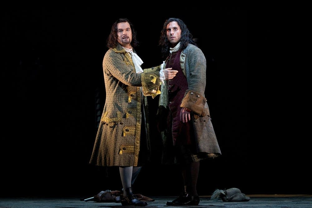 Finley as Giovanni and Ketelsen as Leporello