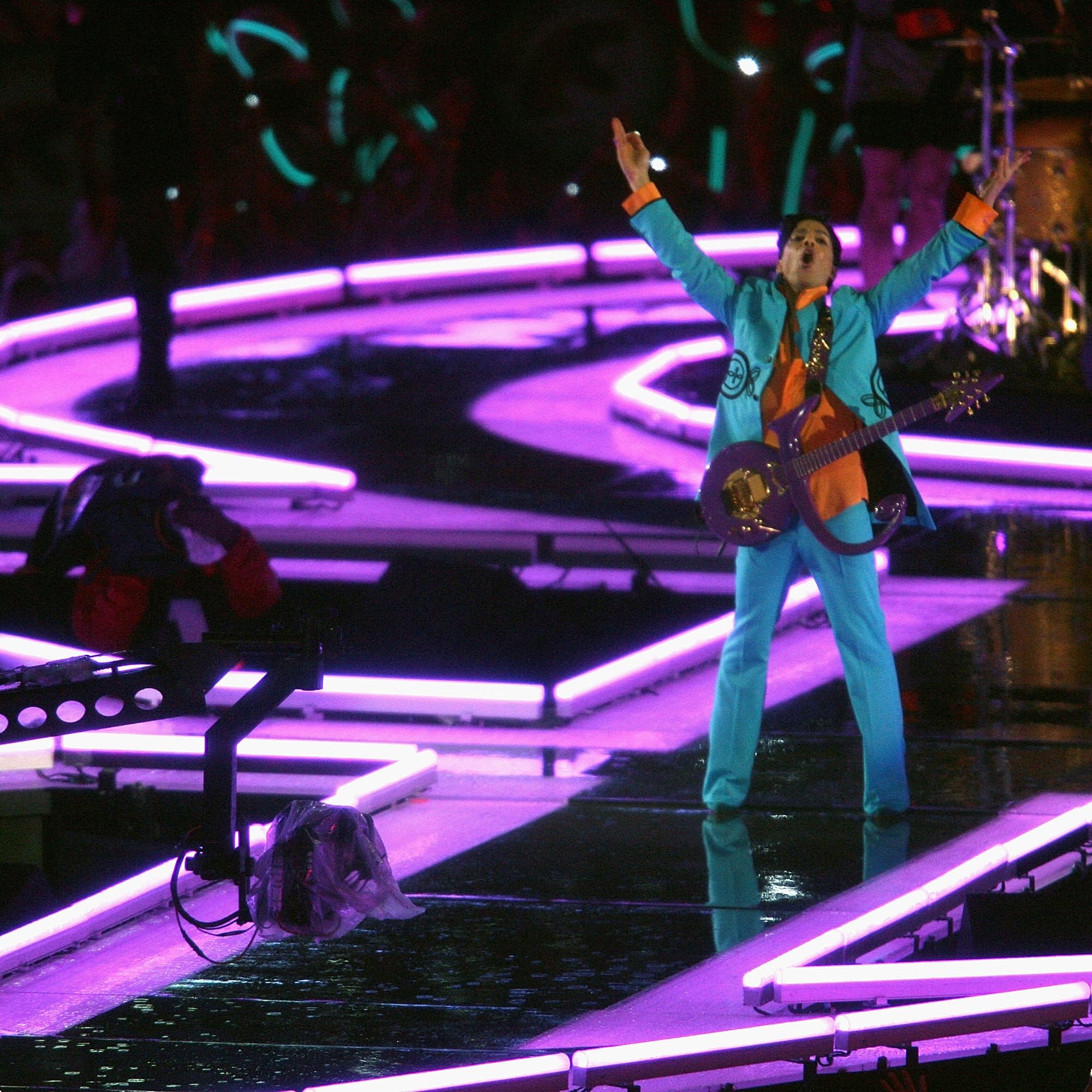Prince at the 2007 Super Bowl