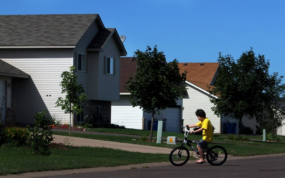 Biking the neighborhood