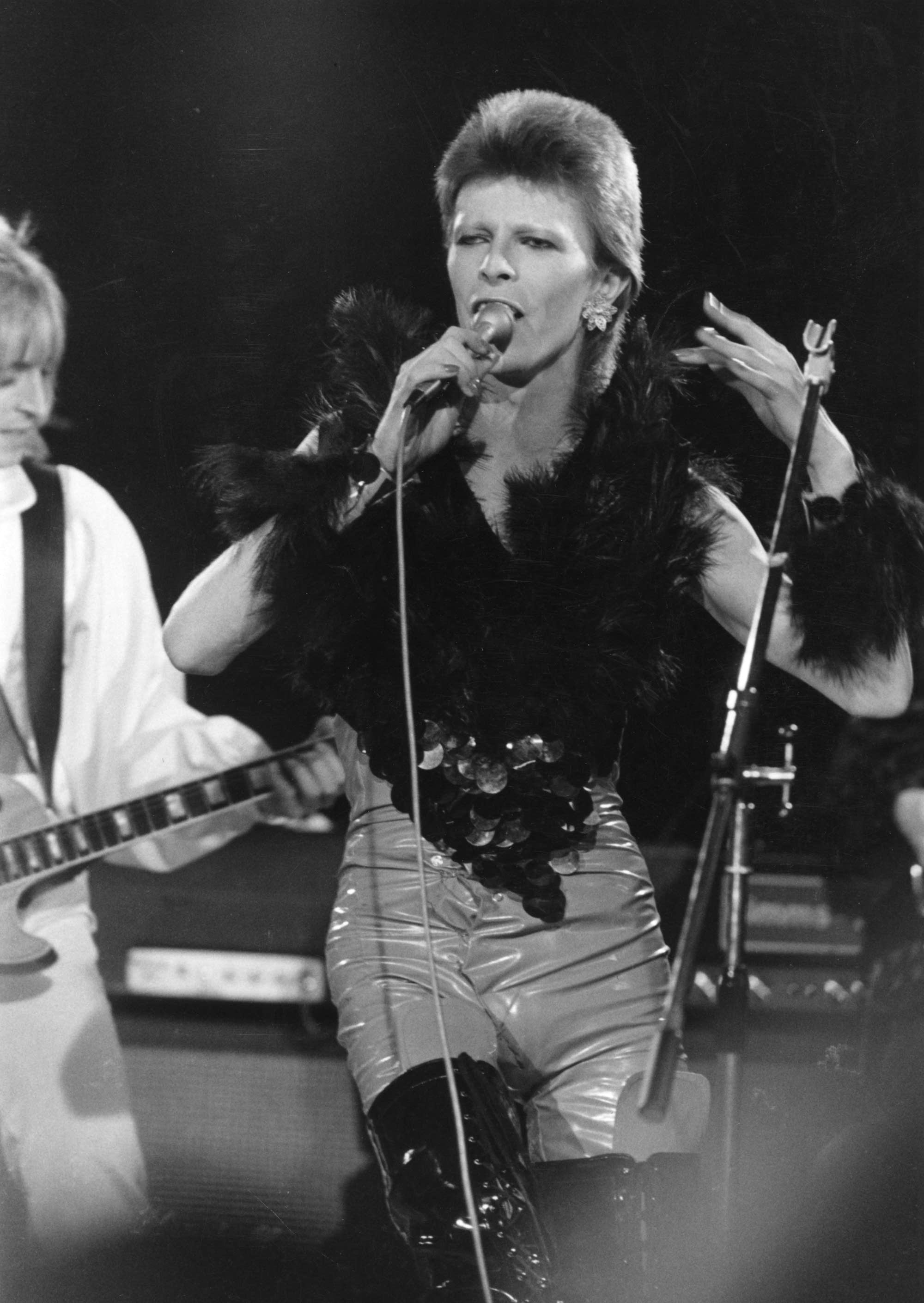 David Bowie and Mick Ronson in the 1970s