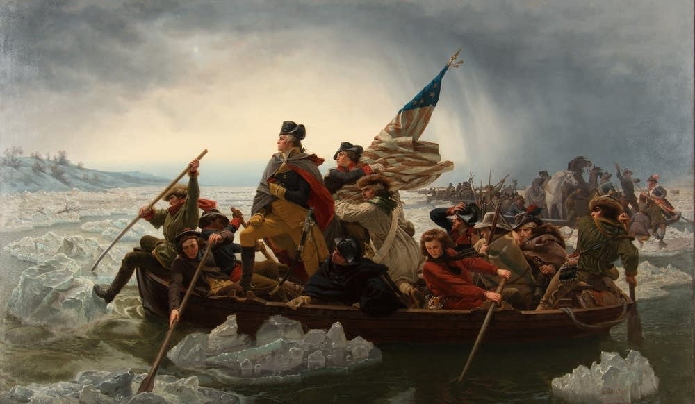 Billedresultat for washington crossing the delaware