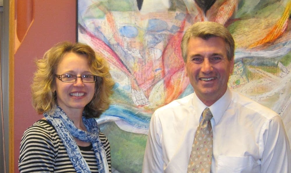 Alison Young and Mayor Rybak