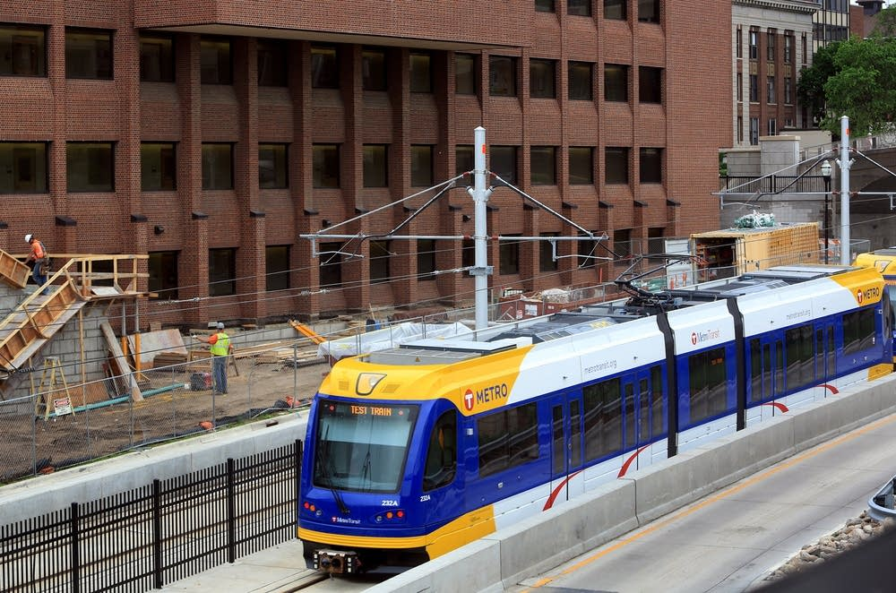 Light rail near Kolthoff Hall