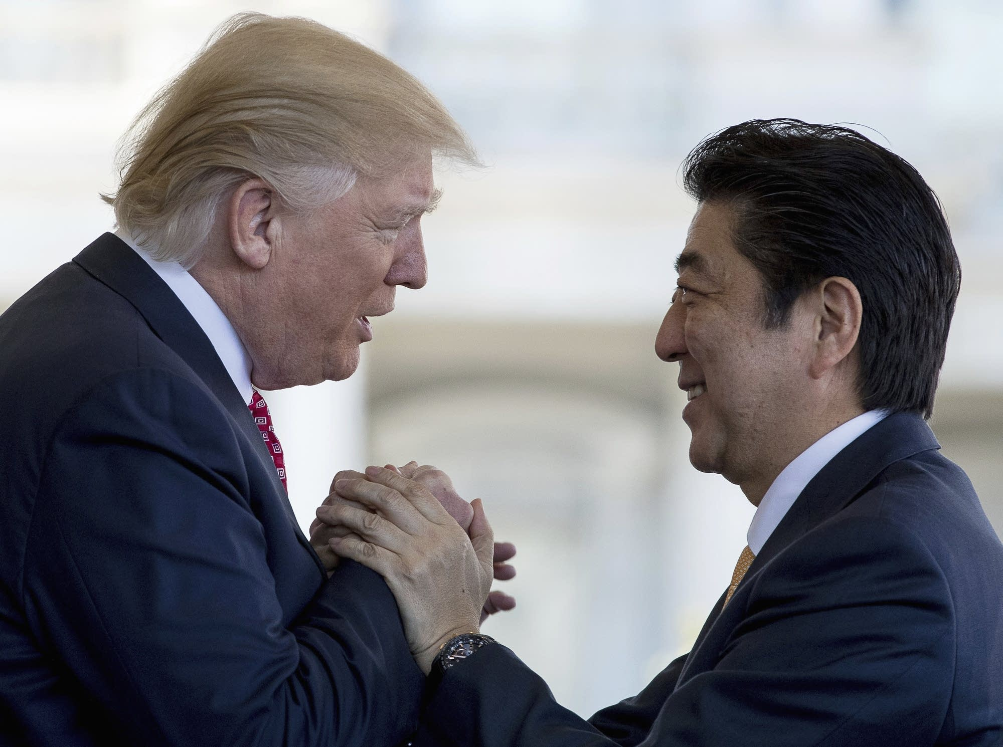 Donald Trump,Shinzo Abe