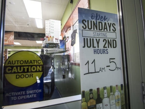 Sunday liquor sales become legal in Minnesota.