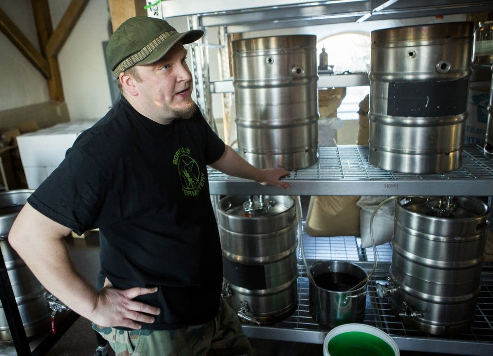 Borealis Fermentery brewer and owner Ken Thiemann