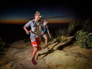Courtney Dauwalter at mile seven of the Sean O'Brien 100 km race in Malibu.