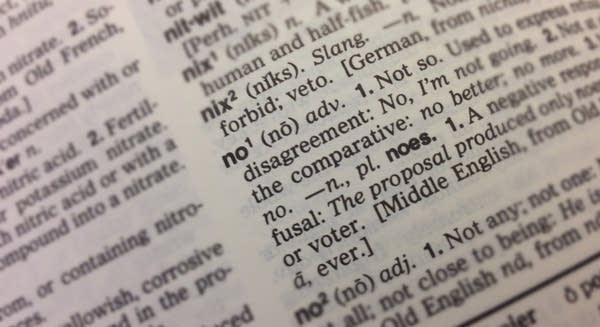 'No' definition