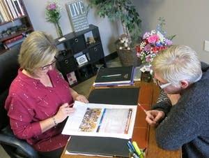 Warroad Pioneer publisher Rebecca Colden and editor Koren Zaiser.