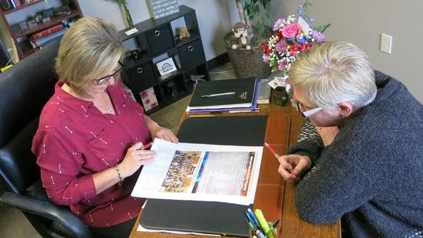 Warroad Pioneer publisher Rebecca Colden and editor Koren Zaiser.
