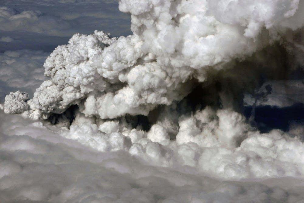 Volcano under Eyjafjallajokull glacier