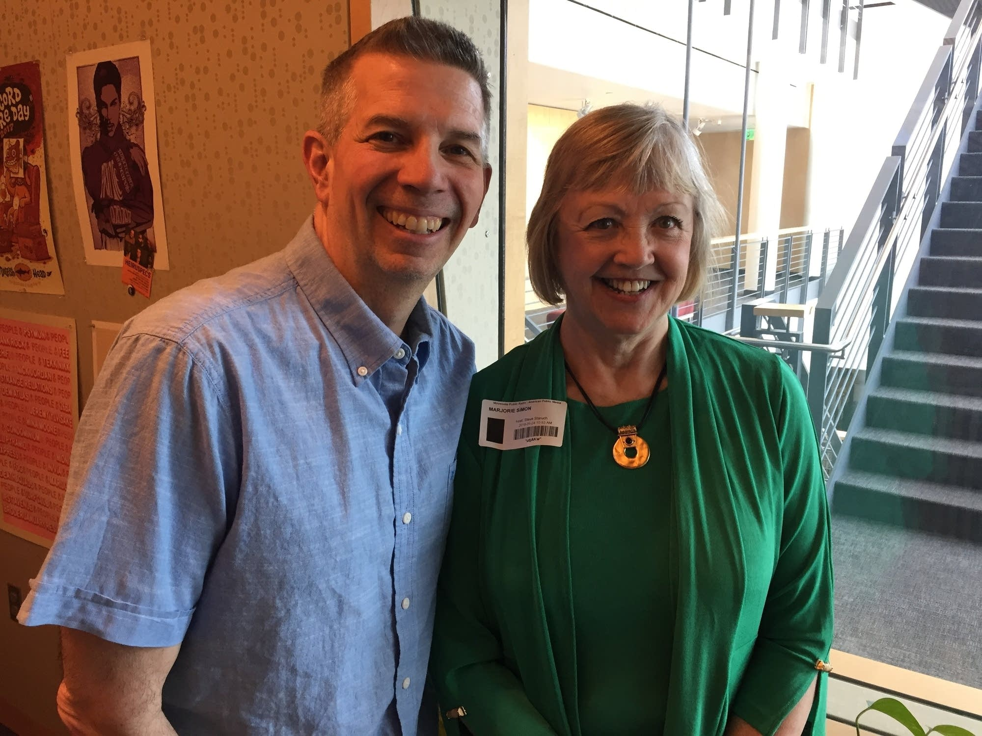 Steve Staruch with Music with Minnesotans guest Margie Nelson Simon