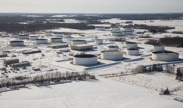 Enbridge's Clearbrook Terminal seen from the air