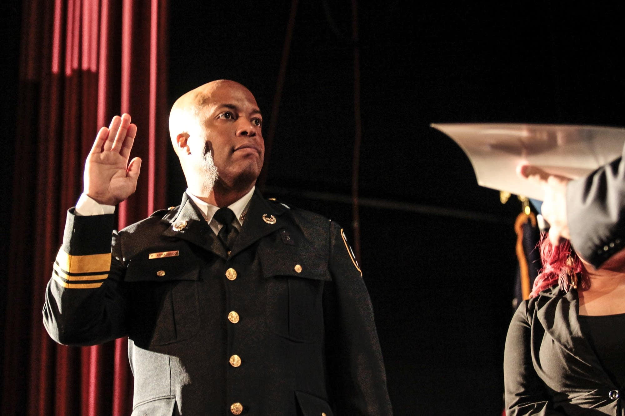 Chief Medaria Arradondo is sworn in at Sabathani Community Center.