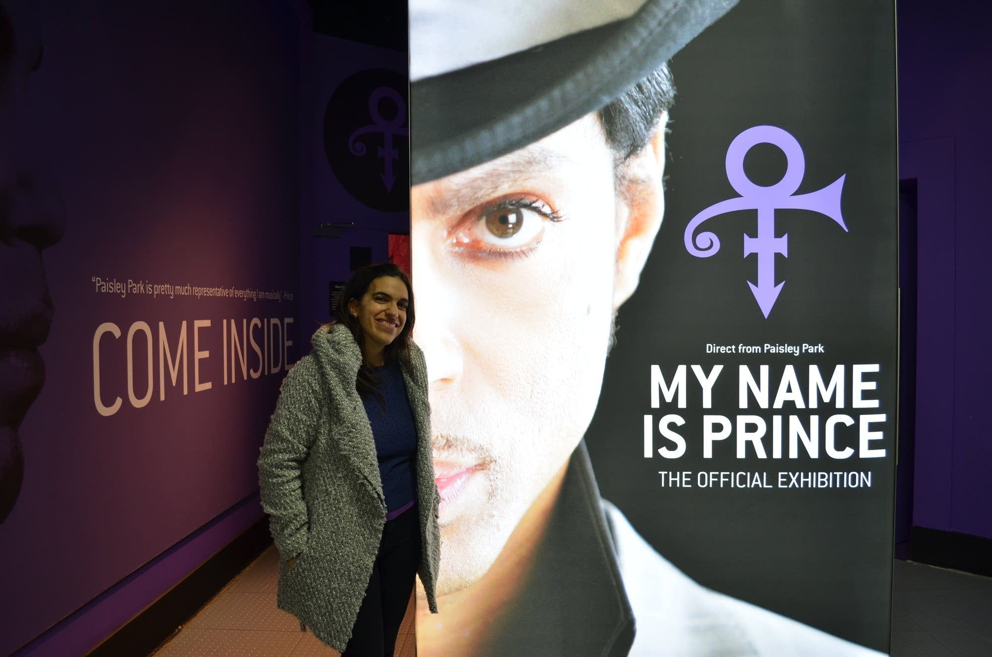 Writer Eugenia Sestini after visiting My Name Is Prince exhbition