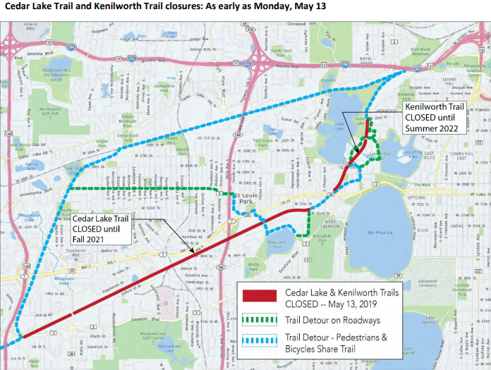 Closure and detour map
