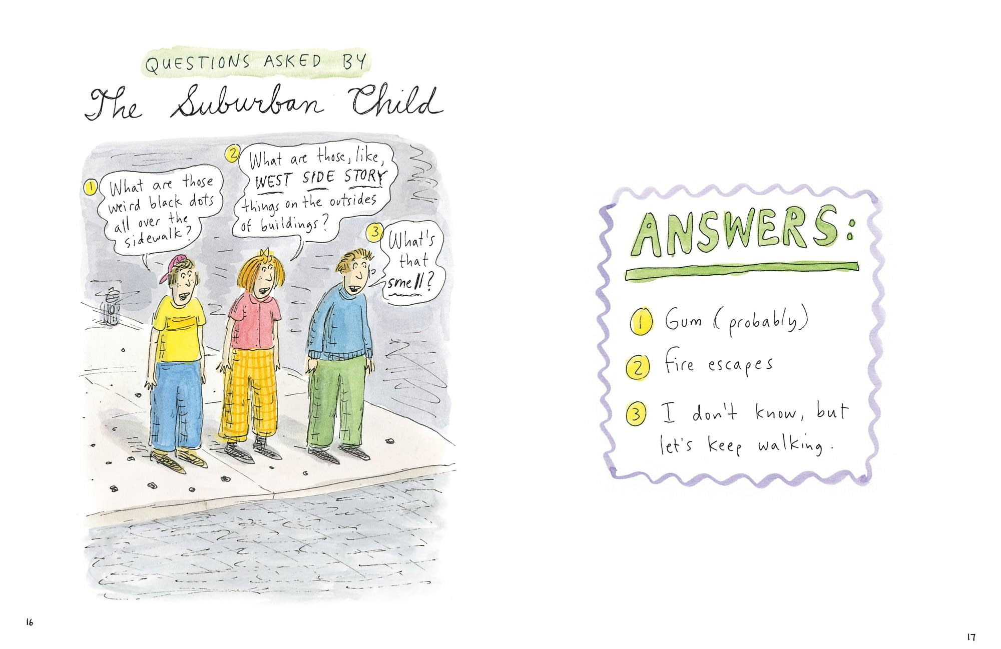 'Going into Town,' by Roz Chast, gives basic advice for visitors to NYC.