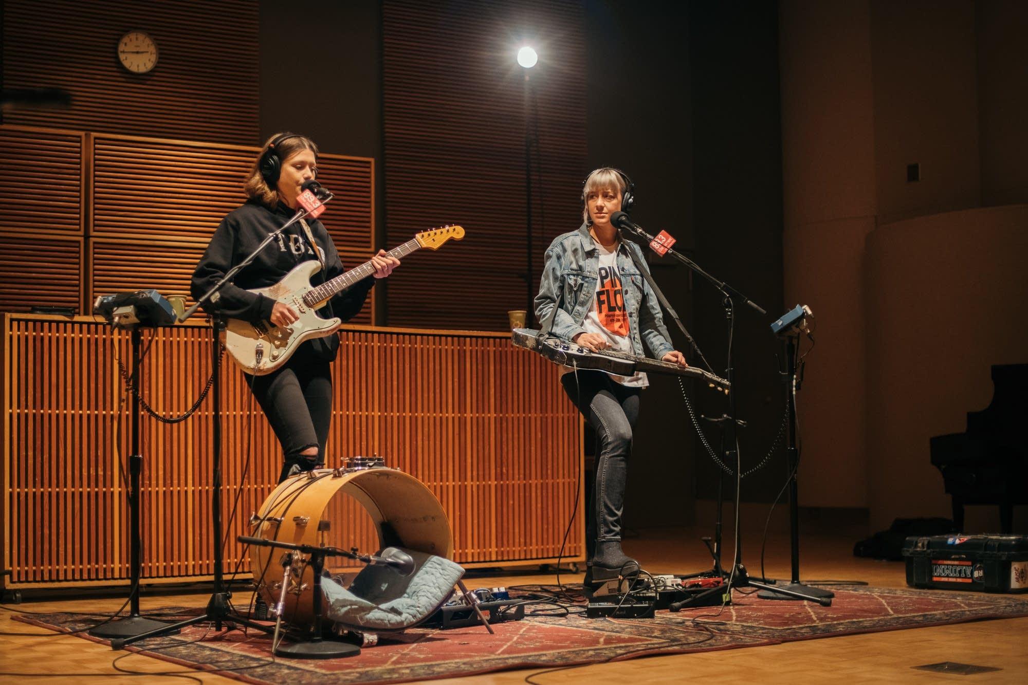 Larkin Poe perform in The Current studio