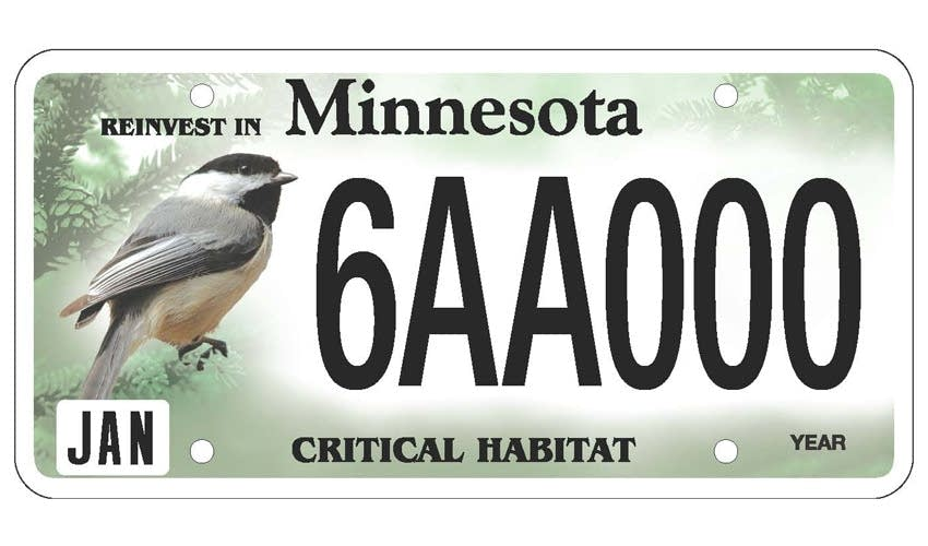 New plates could put a walleye chickadee or whitetail on for Where to buy fishing license mn