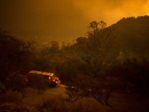 Massive Thomas Fire threatens Santa Barbara County.