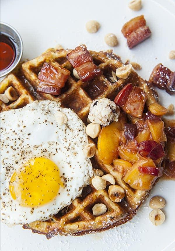 Sweet Corn Wheat Berry Savory Waffle