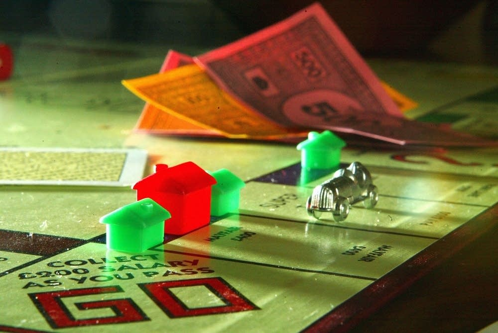 Houses on a Monopoly board