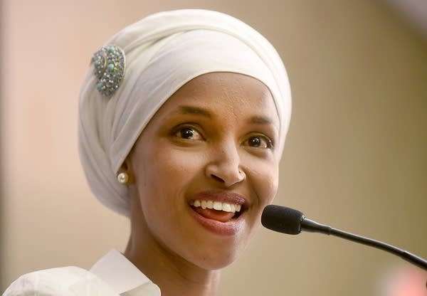DFL candidate Ilhan Omar thanks her supporters.