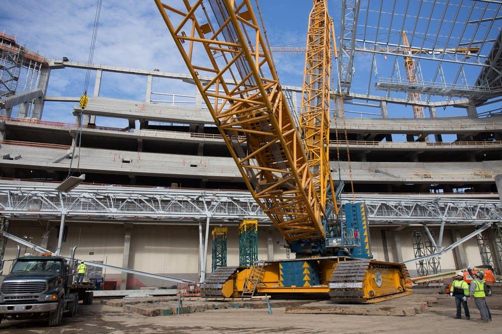 Photos: Vikings stadium construction nears halfway mark ...