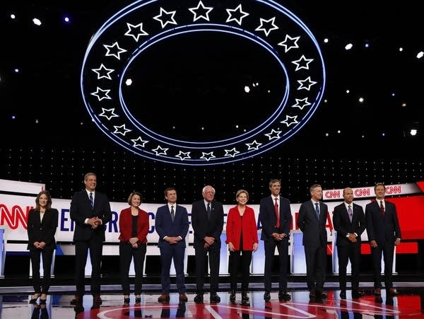 Democratic presidential hopefuls are on stage for a debate hosted by CNN.