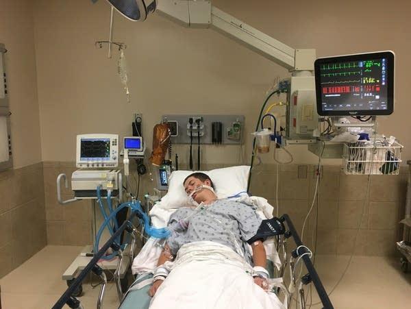 Joseph Jenkins' son, Jay, in the emergency room.