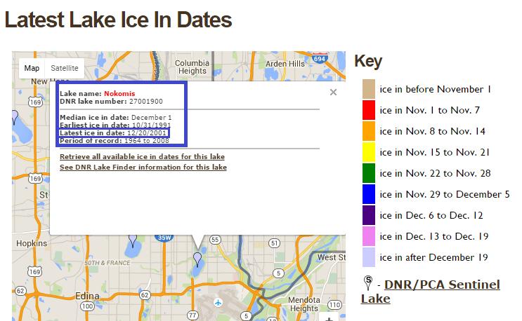 1216 Nokomis ice in