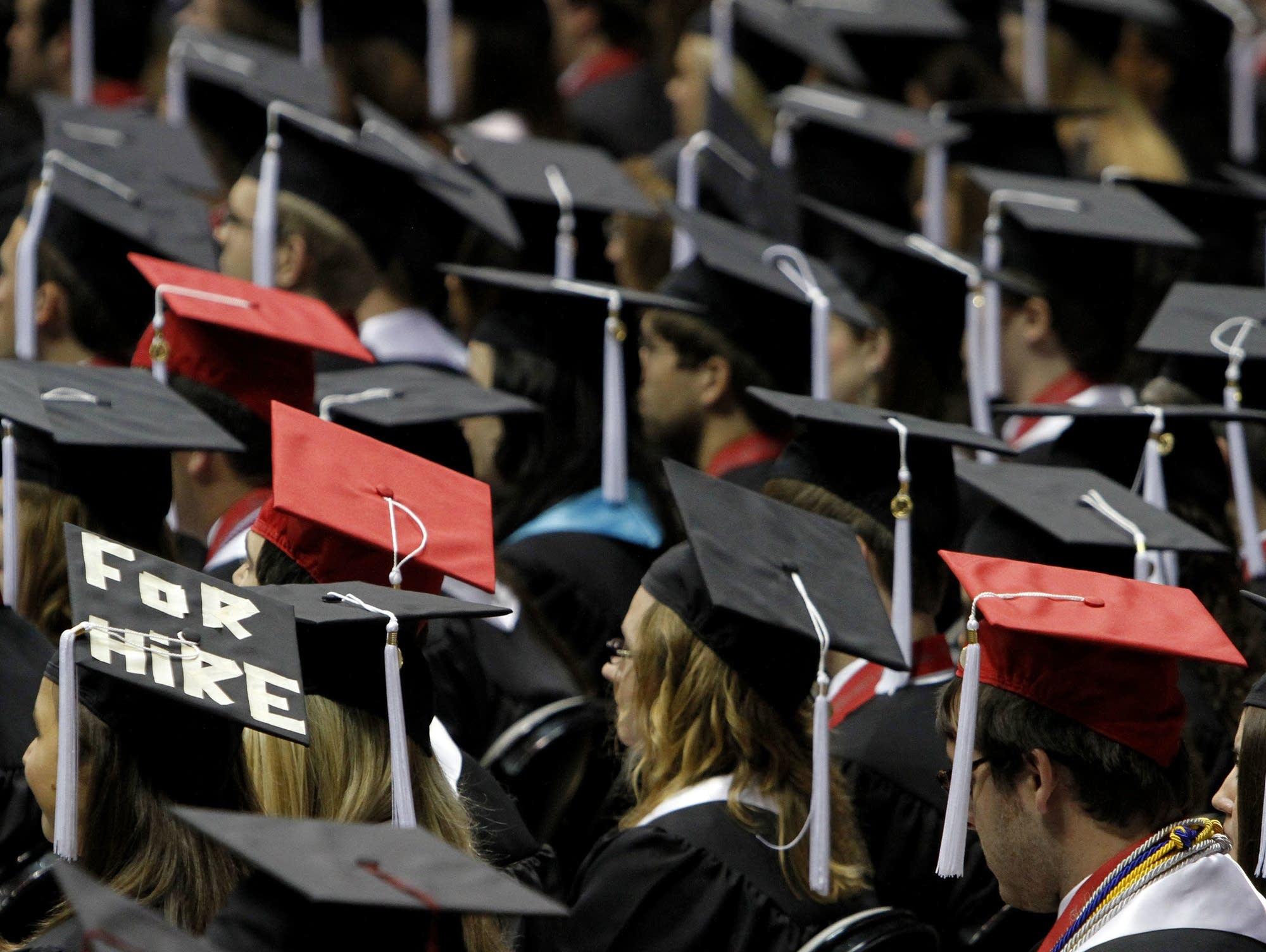 Students graduating at the University of Alabama in Tuscaloosa, Ala.