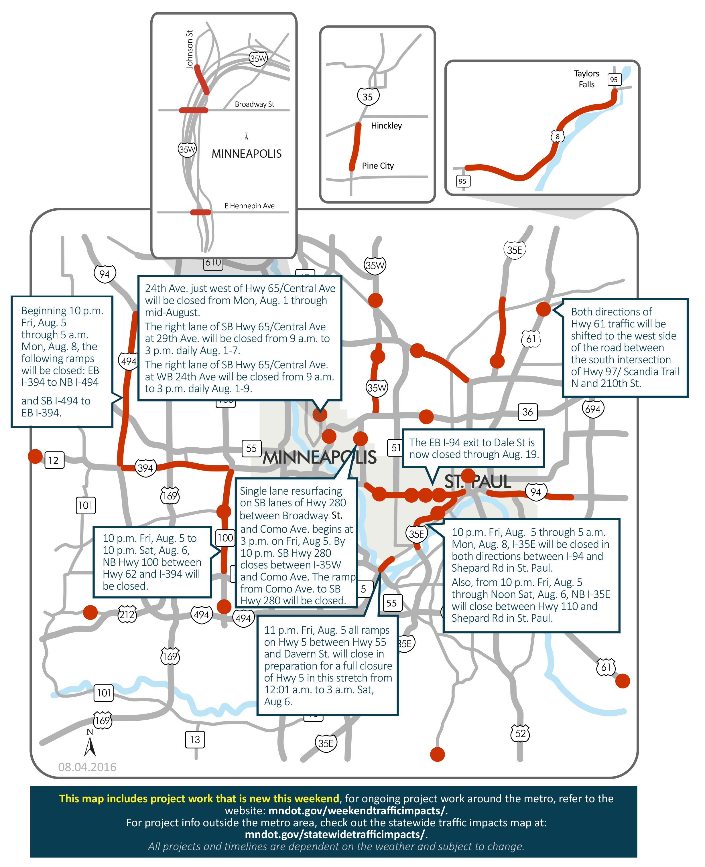 St Paul Traffic Map.I 35e Hwy 280 Closures Top Weekend Road Woes Mpr News