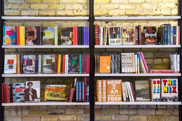 Milkweed Authors on the shelves.