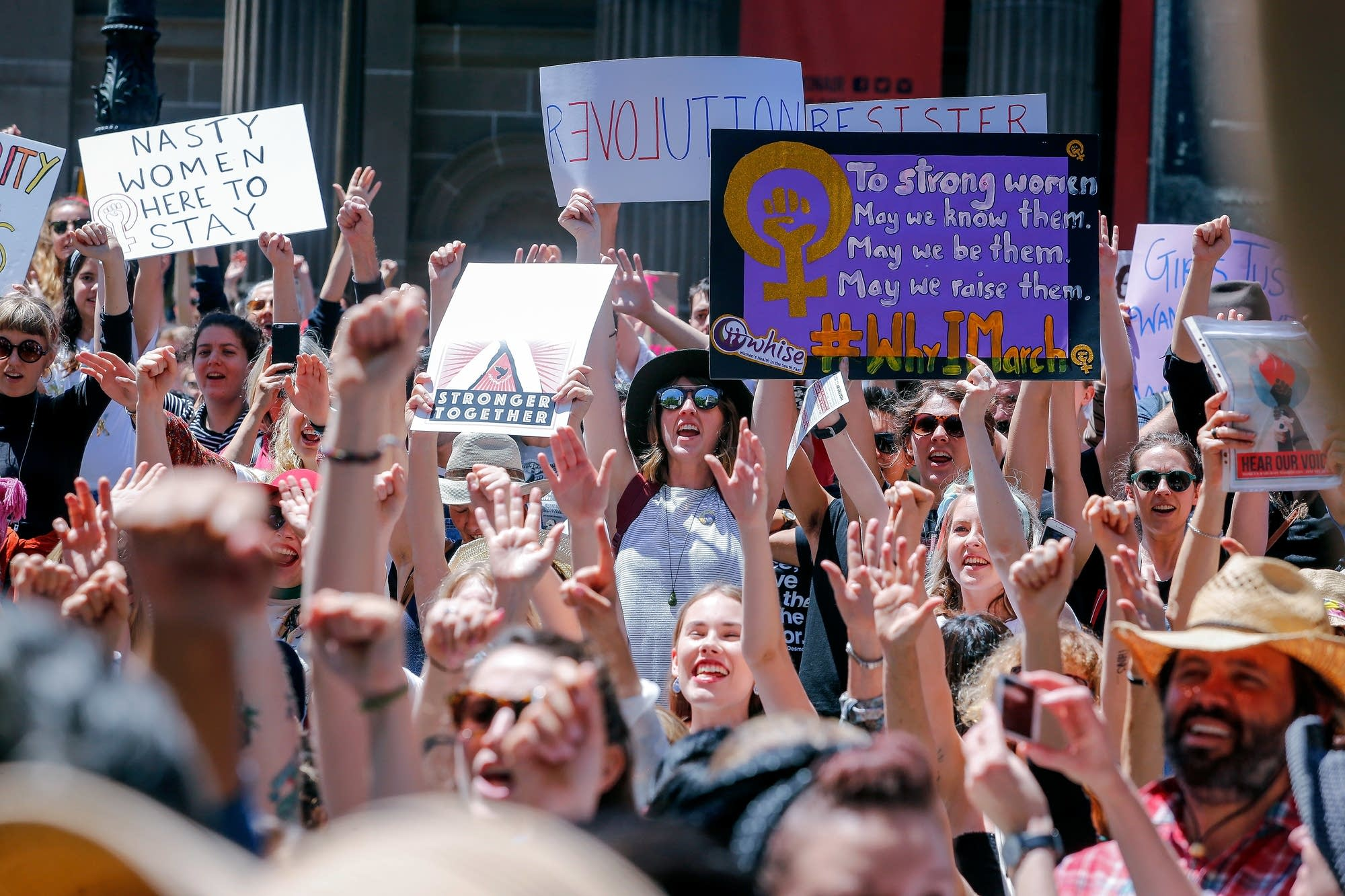 Melbourne, Australia: Protesters take part in the Melbourne rally.
