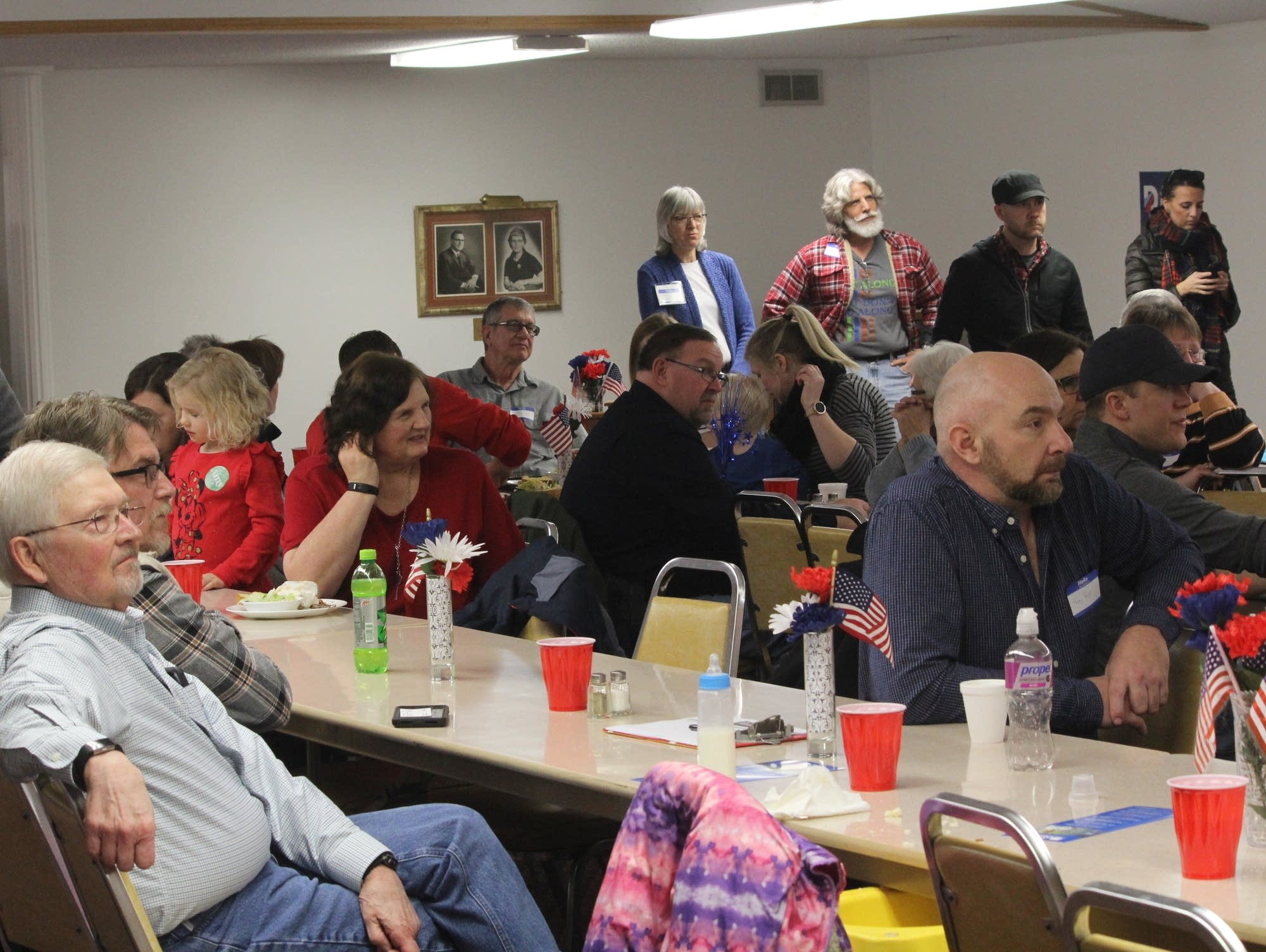 The crowd at the Monroe County Democrats' annual spaghetti dinner