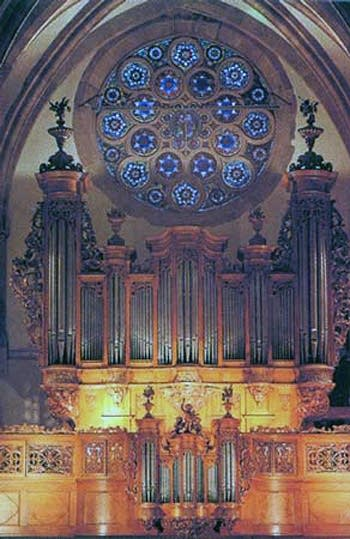 1741 J-A Silbermann organ at Saint Thomas Church, Strasbourg, France