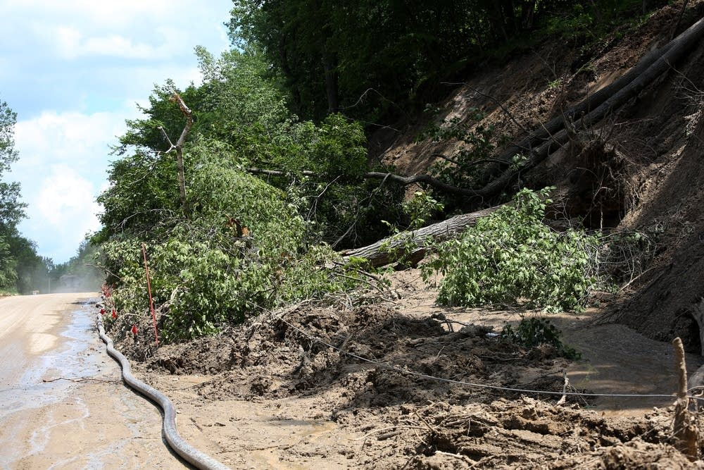 The largest mudslide was on Co. Rd. 6.