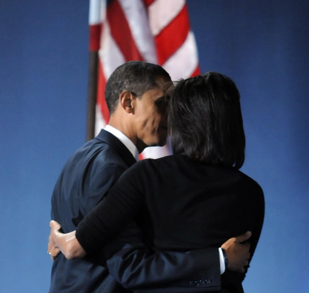 Obama and his wife Michelle