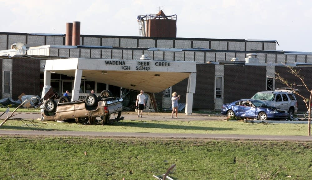 Wadena-Deer Creek High School Tornado Damage