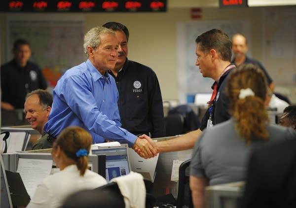 Bush at  FEMA