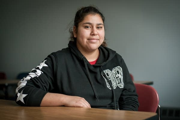 Jasmine Lazo, 18, at the Hubbs Center in St. Paul.