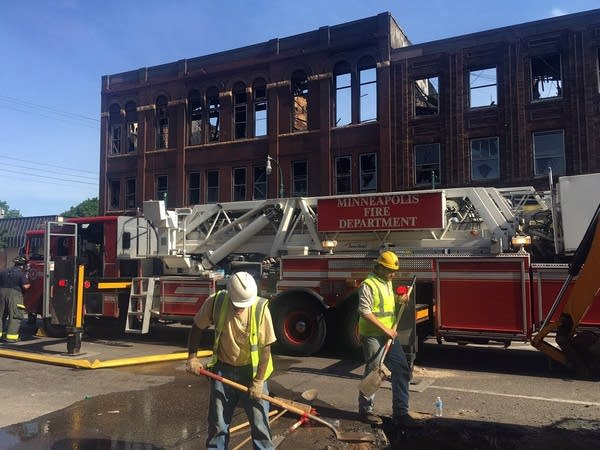 Several businesses were damaged or destroyed in a south Minneapolis fire.