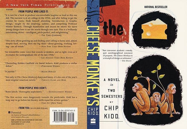 """The cheese monkeys,"" Chipp Kidd"