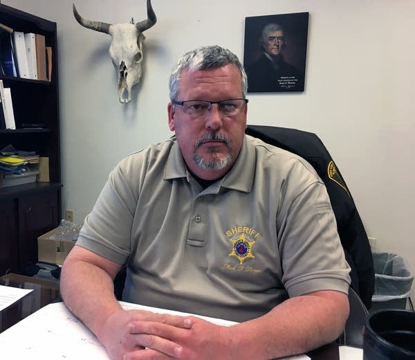 Ford County Sheriff Mark Doran in his office.