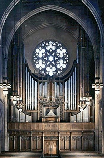 1932 Skinner; 1969 Schlicker organ at First Congregational, Los Angeles, California
