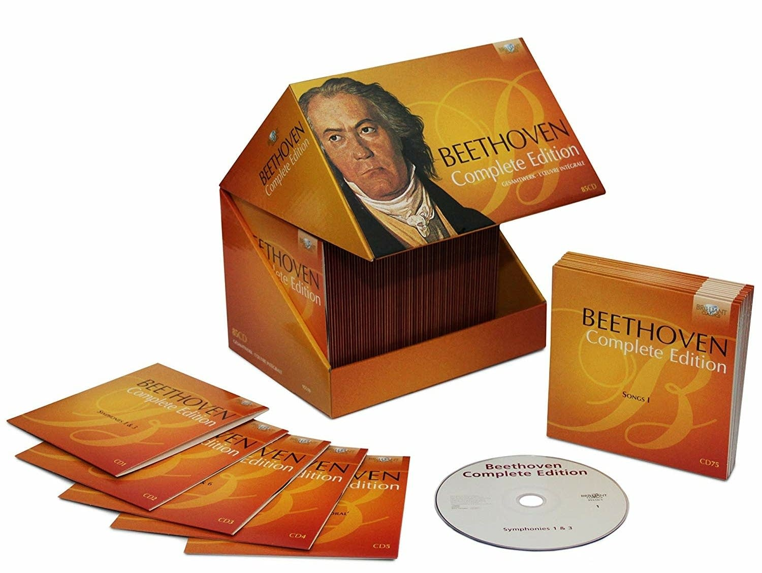 'Beethoven Complete Edition' is an 85-disc boxed set of his works.